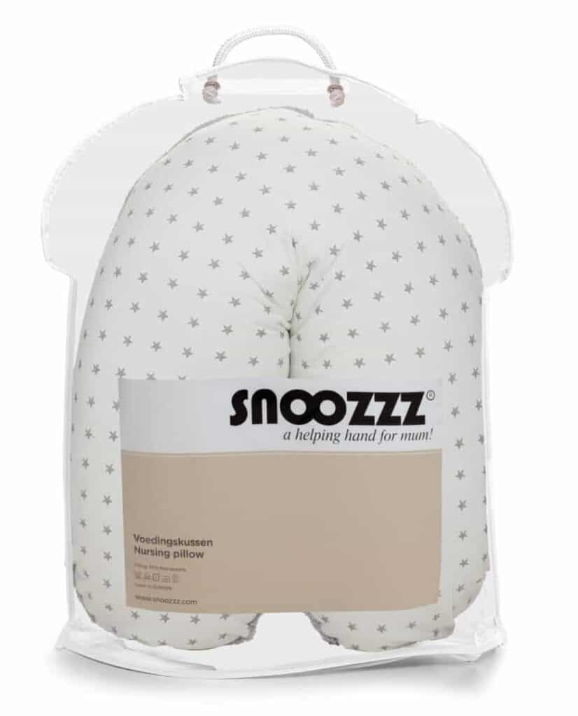 Snoozzz voedisngkussen small mini ster in verpakking
