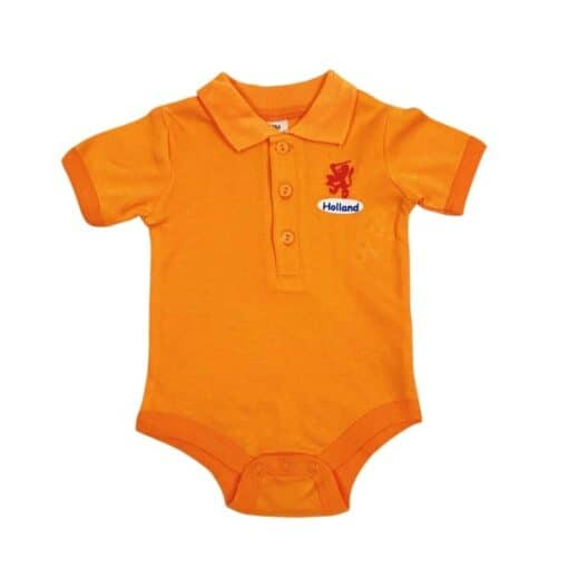 EK Oranje baby polo romper